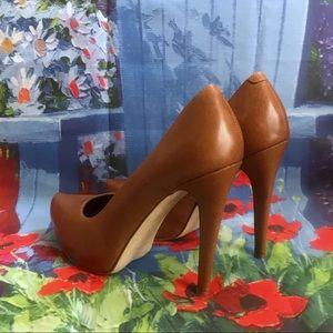 Aldo Platform Heels Leather Covered Pointy Toe